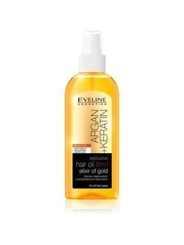 Eveline Cosmetics Argan + Keratin olejek do włosów 8 w 1 150 ml