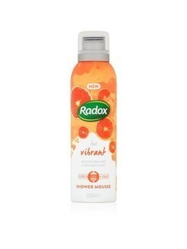 Radox Feel Vibrant jedwabisty mus do mycia ciała Blood Orange & Ginger Scent 200 ml