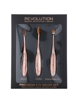 Makeup Revolution Pro Precision Brush zestaw pędzli do oczu 3 szt.