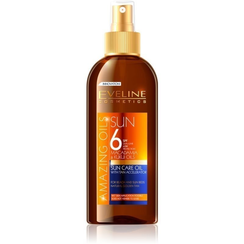 Eveline Cosmetics Sun Care olejek ochronny do opalania w sprayu SPF 6 150 ml