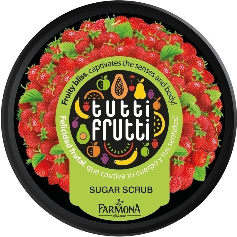 Farmona Tutti Frutti Wild Strawberry cukrowy peeling do ciała 160 g