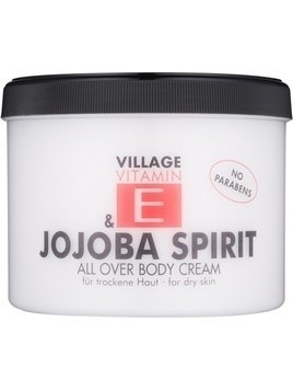 Village Vitamin E Jojoba Spirit krem do ciała bez parabenów 500 ml