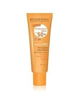 Bioderma Photoderm Max Aquafluid fluid tonujący do opalania SPF 50+ odcień Light Colour 40 ml