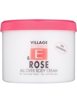 Village Vitamin E Rose krem do ciała bez parabenów 500 ml