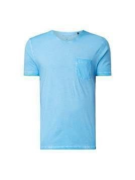 T-shirt o kroju regular fit z efektem sprania