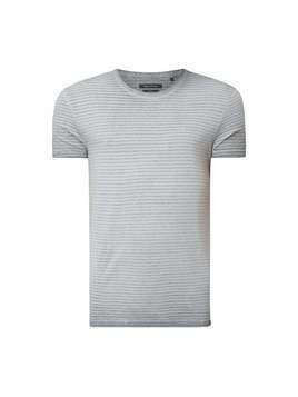 T-shirt o kroju shaped fit z efektem sprania