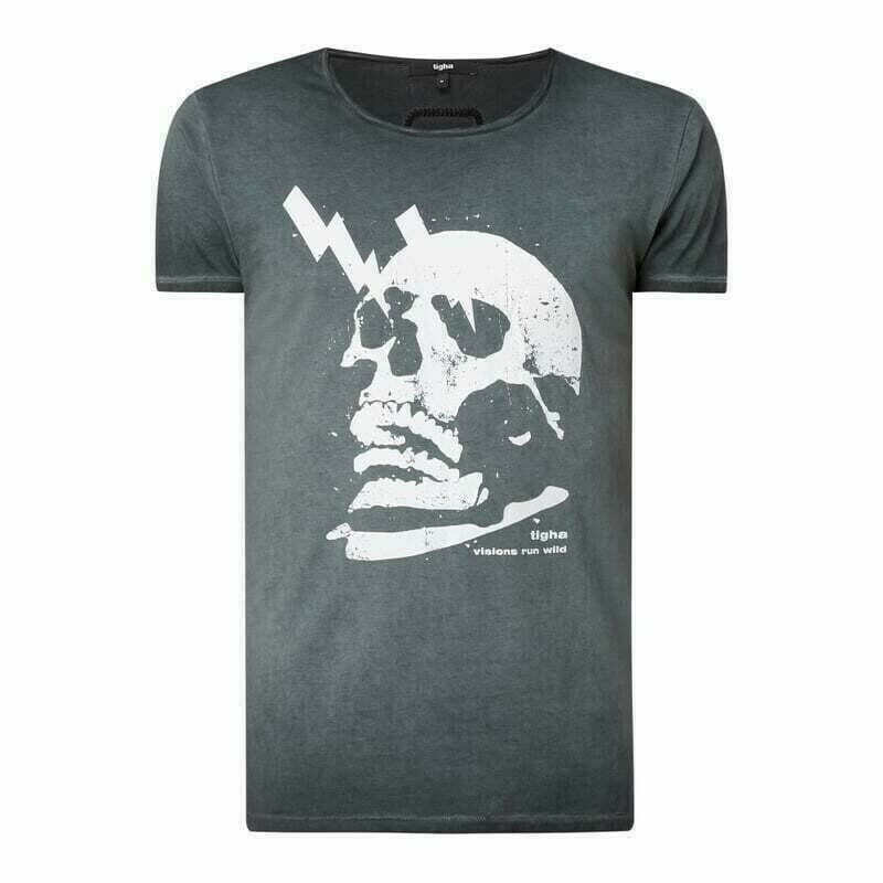 T-shirt z bawełny model 'Electrified Skull Wren'