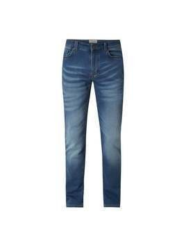 Jeansy o kroju slim fit z denimu sweat