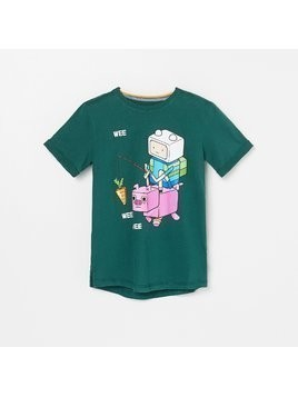 Reserved - T-shirt Adventure Time x Minecraft - Khaki