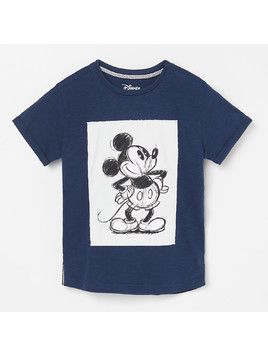 Reserved - T-shirt Mickey Mouse - Granatowy