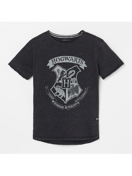 Reserved - T-shirt z nadrukiem Harry Potter - Czarny