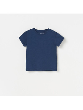 Reserved - T-shirt basic - Granatowy
