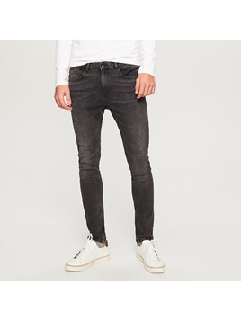 Reserved - Jeansy rurki skinny fit - Szary