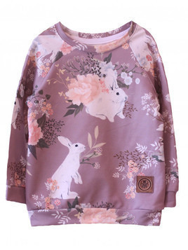 Bluza Rabbit and Flowers powder pink