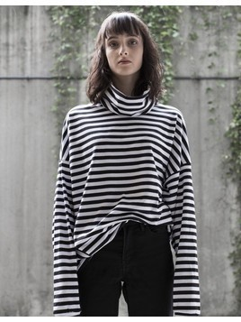Longsleeve Oversized Stripes Turtleneck
