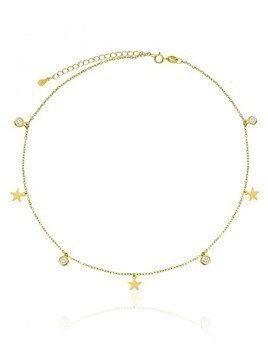 Choker Stars Diamonds Gold