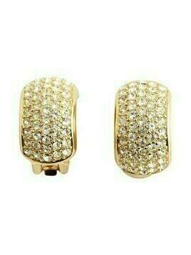 Chrystal tone earrings