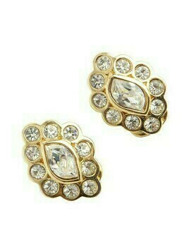 Flower shaped clip on earrings