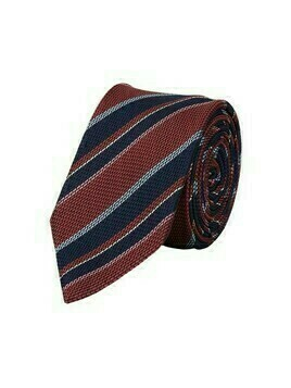 Silk tie with diagonal stripes