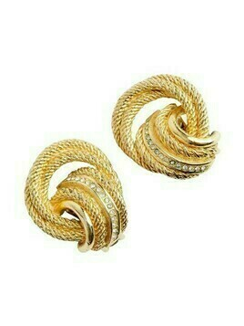 knot clip on earrings