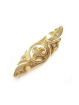 gold tone brooche