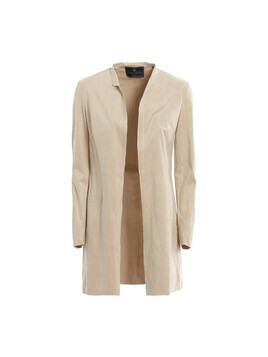 ECO NUBUCK LEATHER SHORT COAT