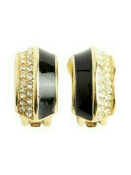 Shaped clip on earrings