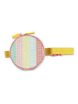nylon round girl belt bag