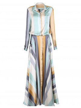 Suknia Maxi Stripes