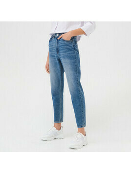 Sinsay - Mom jeans ECO AWARE - Niebieski