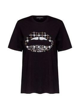 T-shirt MARKUS LUPFER ALEX SEQUIN CHECK LIP