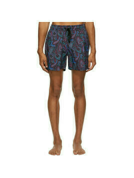 Etro Navy Paisley Swim Shorts