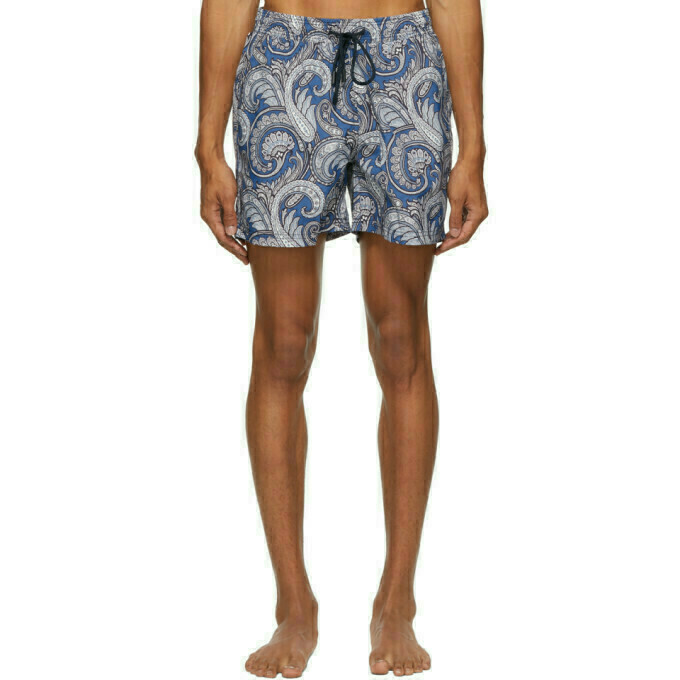 Etro Blue Paisley Swim Shorts