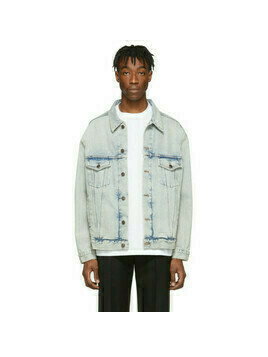 Balenciaga Blue Denim Logo Jacket