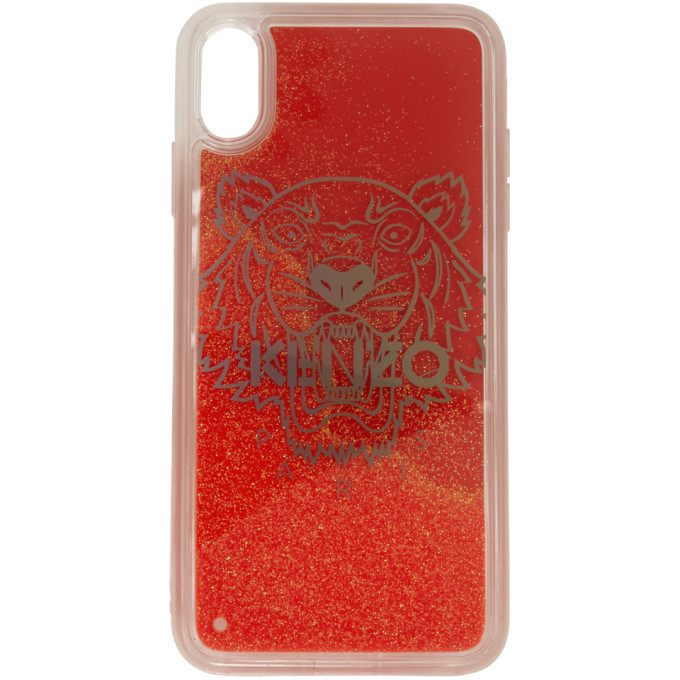 Kenzo Red Glitter Tiger Head iPhone X/XS Case
