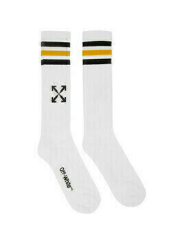 Off-White White and Black Sport Socks
