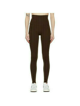 Live the Process Brown Geometric Leggings