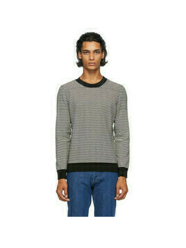 A.P.C. Black and White Striped Patrick Sweater