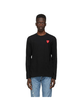 Comme des Garcons Play Black Layered Double Heart Long Sleeve