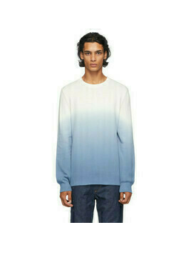 A.P.C. White and Blue Skyline Sweater