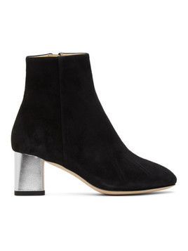 Repetto Black Melo Suede Ankle Boots