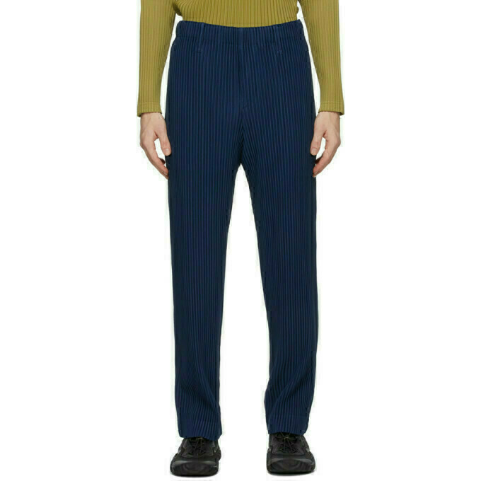 Homme Plisse Issey Miyake Blue Tailored Pleats 2 Trousers