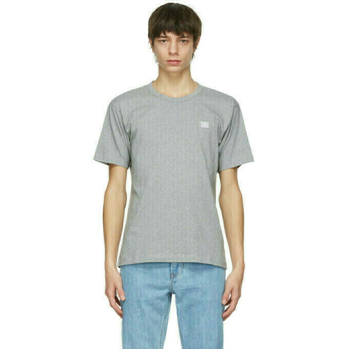 Acne Studios Grey Nash Patch T-Shirt