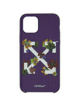 Off-White Purple Leaves iPhone 11 Pro Case