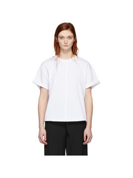 3.1 Phillip Lim White Shoulder Slit T-Shirt