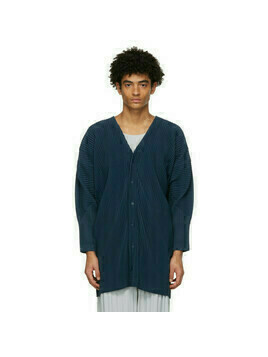 Homme Plisse Issey Miyake Blue Monthly Colors October Long Cardigan