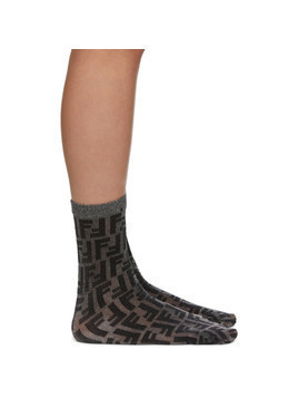 Fendi Black Short Lurex Socks
