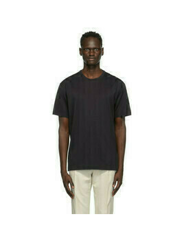 Z Zegna Black Cotton Jersey Oversized T-Shirt
