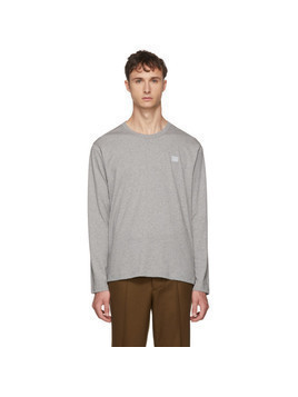 Acne Studios Grey Long Sleeve Nash Patch T-Shirt