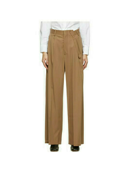 MM6 Maison Margiela Beige Fold Over Trousers
